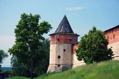 Russia. Zaraysk. Travel in Russia. Zaraysk. Kremlin. Tower Stock Image