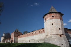 Russia, Zaraysk. Tower Zaraisk Kremlin. Royalty Free Stock Photography