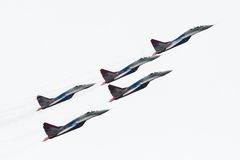 RussiaAerobatic team Swifts (Strizhi) Royalty Free Stock Photo