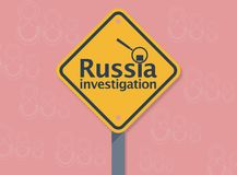 Russiagate, investigación de Rusia stock de ilustración