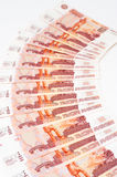 Russian 5000 rouble bills Royalty Free Stock Photo