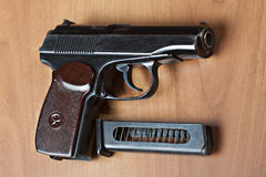 Russian 9mm handgun PM (Makarov) Royalty Free Stock Image