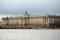 The Russian Academy of Arts in St. Petersburg Stock Images