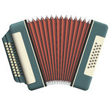 Russian accordion. With two rows of buttons Royalty Free Stock Images