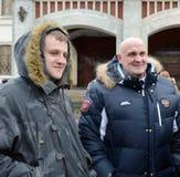 Russian actors Alexey and Igor Ogurtsova. Stock Images