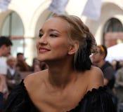 Russian actress Polina Sidikhina posing for photographers Stock Photography