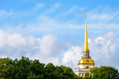 The Russian Admiralty Spire Royalty Free Stock Photography