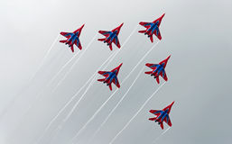 Russian aerobatic group Strizhi Stock Images