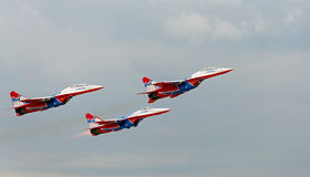 Russian aerobatic group Strizhi Royalty Free Stock Photography
