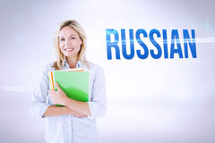 Russian against grey background Royalty Free Stock Images