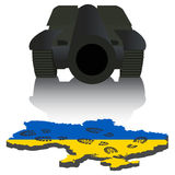 Russian aggression in Ukraine. Concept events in 2014. Vector illustration Royalty Free Stock Image