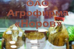 Russian agro-industrial exhibition Golden autumn royalty free stock photo