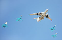 Russian Air Force airplanes Stock Image
