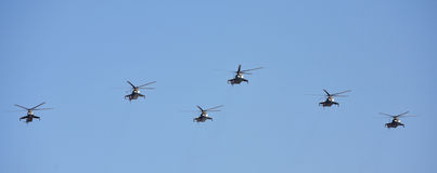 Russian Air Force helicopters Royalty Free Stock Image