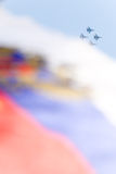 Russian air forces. Demonstrate combat power Stock Photos