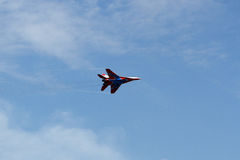 Russian aircraft at the airshow Royalty Free Stock Images