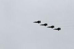 Russian aircraft at the airshow Royalty Free Stock Photo