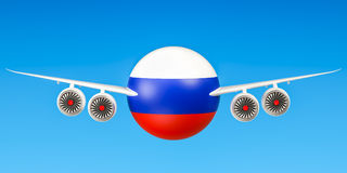 Russian airlines and flying& x27;s, flights to Russia concept. 3D ren Stock Image