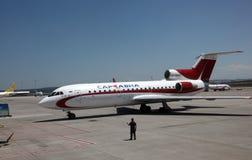 Russian airplane Stock Photo