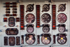 Russian Airplane Flight Instruments Stock Photos