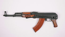 Russian AKMS (AK47) assault rifle Stock Photo
