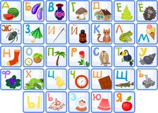 Russian alphabet. For children with funny pictures Royalty Free Illustration