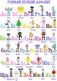 The Russian alphabet with pictures royalty free illustration