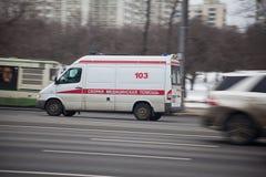 Russian ambulance car Stock Images