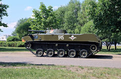 Russian amphibious armored personnel carrier in Victory Park Royalty Free Stock Images