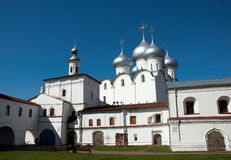 Russian ancient church Stock Photos