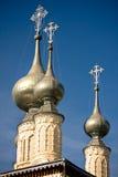 Russian ancient church Stock Photos