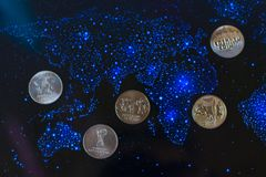 Russian anniversary coins of Sochi. royalty free stock photography