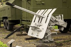 Russian Anti Aircraft Gun Stock Photography
