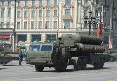 Russian anti-aircraft missile system large and medium-range anti-aircraft missile complex  Triumph s-400 Stock Photo