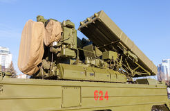 Russian anti-aircraft missile system Royalty Free Stock Image