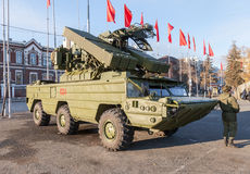 Russian anti-aircraft missile system Stock Images
