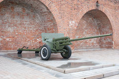 Russian anti-tank regiment 57-mm gun of the Second World War Stock Photo