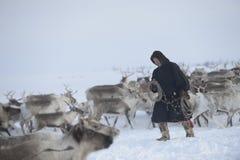 Russian Arctic Aboriginal ! Royalty Free Stock Photography