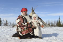 Russian Arctic Aboriginal ! Royalty Free Stock Photo