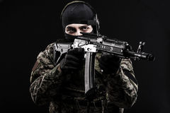 Russian armed forces. Russian special forces on dark background royalty free stock photos