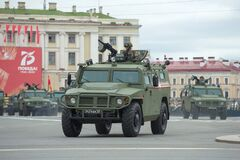 Free Russian Armored Car `Tiger` On The Military Parade Royalty Free Stock Photo - 188133865