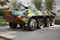 A Russian armored personnel carrier parts Stock Photo