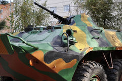 A Russian armored personnel carrier parts Stock Photography