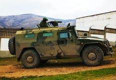 Russian armoured truck in Crimea, Ukraine Stock Photos