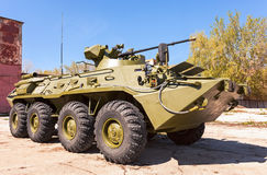 Russian Army BTR-82 wheeled armoured vehicle personnel carrier. SAMARA, RUSSIA - MAY 8, 2014: Russian Army BTR-82 wheeled armoured vehicle personnel carrier Stock Images