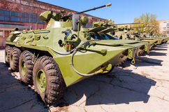 Russian Army BTR-82 wheeled armoured vehicle personnel carrier. SAMARA, RUSSIA - MAY 8, 2014: Russian Army BTR-82 wheeled armoured vehicle personnel carrier Stock Photography
