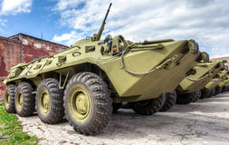 Russian Army BTR-80 wheeled armoured vehicle personnel carrier Royalty Free Stock Images