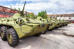 Russian Army BTR-80 wheeled armoured vehicle personnel carrier Royalty Free Stock Photo