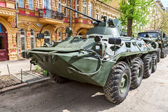 Russian Army BTR-82A wheeled armoured vehicle personnel carrier Royalty Free Stock Images