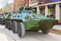 Russian Army BTR-82A wheeled armoured vehicle personnel carrier Stock Images